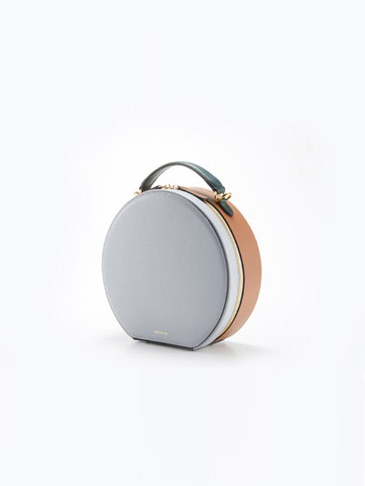 Circle Bag - Crystal Grey / Camel Tan