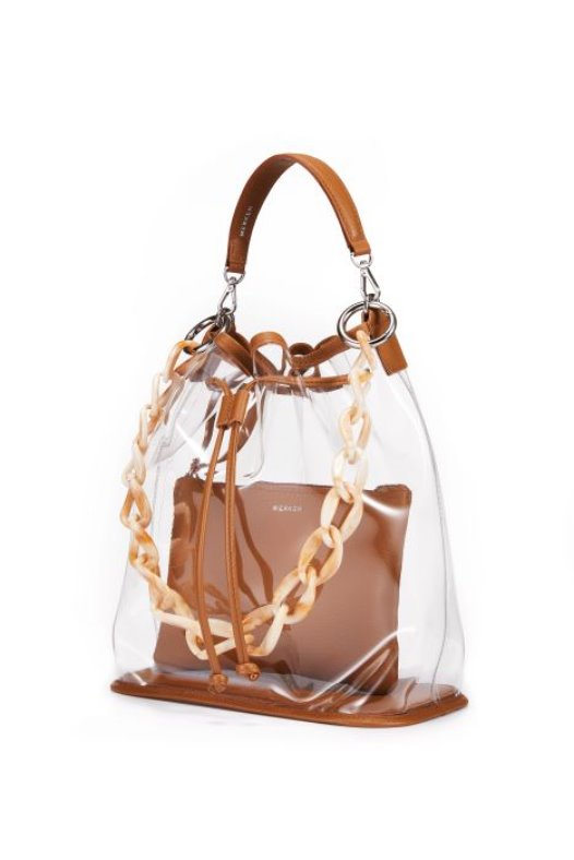See Through Bag - Caramel Brown