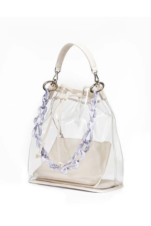 See Through Bag - Cream Ivory